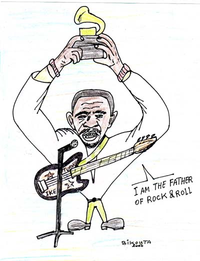 Ike Turner, the father of Rock and Roll (dessin de Bikouta Nkaoulou)