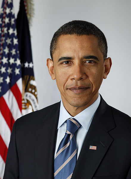 Official presidential portrait of Barack Hussein Obama II, taken shortly before he assumed office