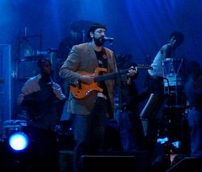 Juan Luis Guerra, at a concert in Madrid, July 2005.