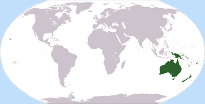 Location of Oceania