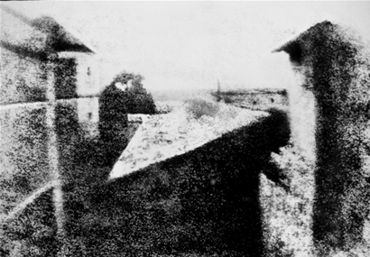 The first successful permanent photograph created by Nicéphore Niépce in 1826.